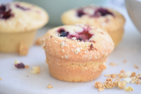 Perfect for breakfast, brunch, or a snack. Delicious Buttermilk Berry Muffins Recipe via remodelaholic.com