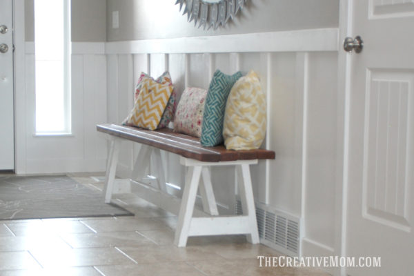 Farmhouse 2x4 Bench The Creative Mom