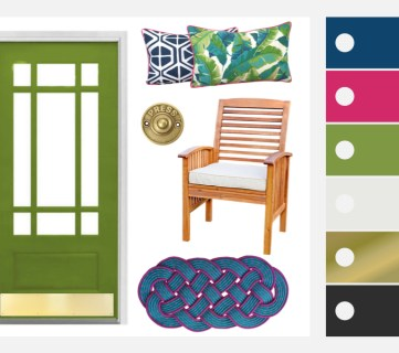 Summer Porch Inspiration: Green Front Doors