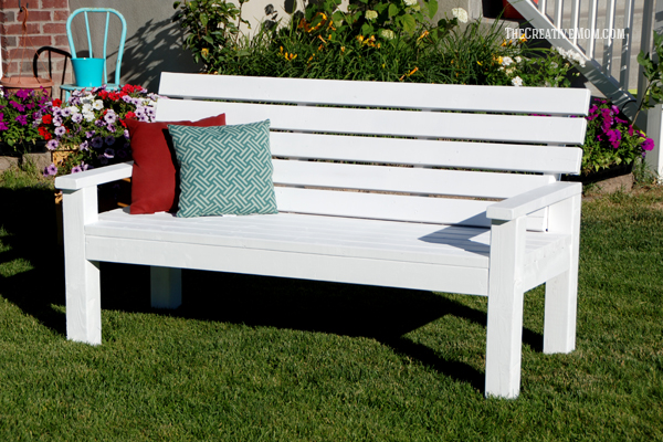 Garden Bench From 2x4s The Creative Mom