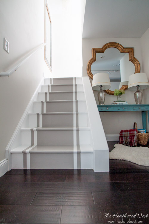 Painted Stairs Via Heathered Nest