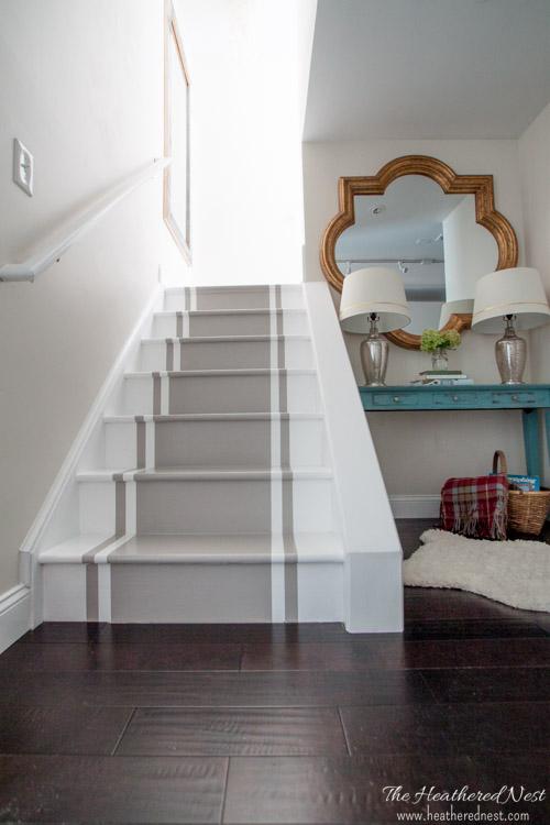 Painted Stairs Via Heathered Nest