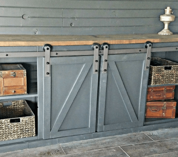 How To Build a Sliding Barn Door Console For Your Man Cave