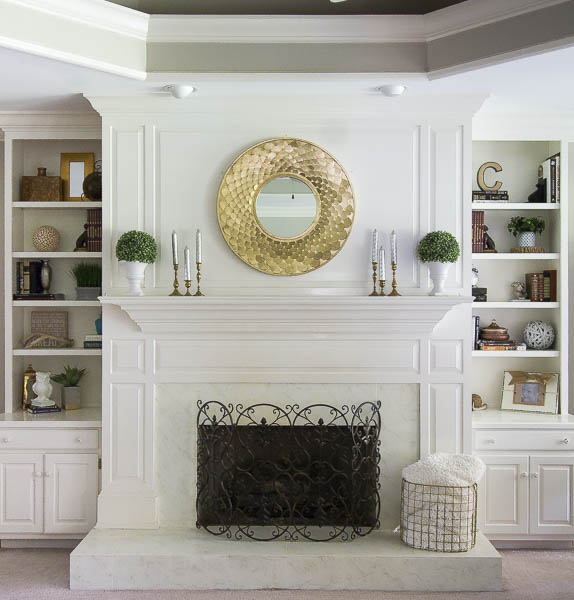 Faux Marble Fireplace5c 7735