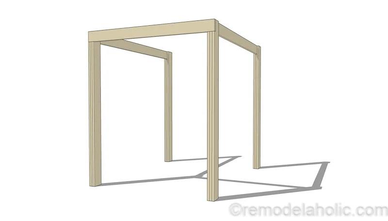 Modern Deck Pergola @remodelaholic 4
