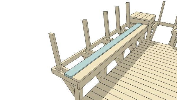 Remodelaholic How To Build Space Saving Deck Benches For A Small Deck
