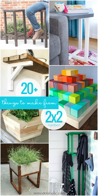 20 Things To Make And Build Using 2x2 Wood Boards @Remodelaholic