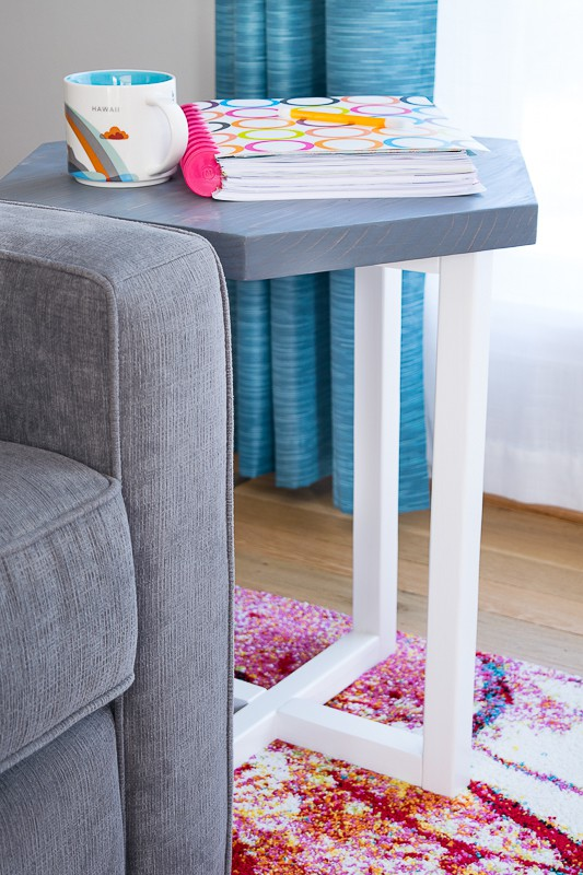 2x2 Hexagon Side Table The Handyman's Daughter
