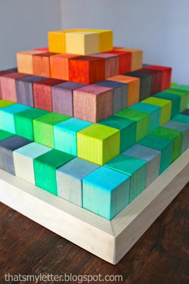 2x2 Projects, Toddler Safe DIY Building Blocks That's My Letter