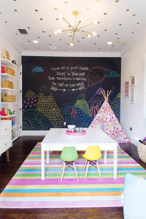 Colorful Girls Playroom Decoration and Inspiration