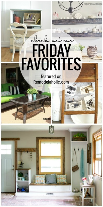 Check Out Our Friday Favorites For This Week with a vintage bike planter and spray painted outdoor cushions Featured On Remodelaholic.com