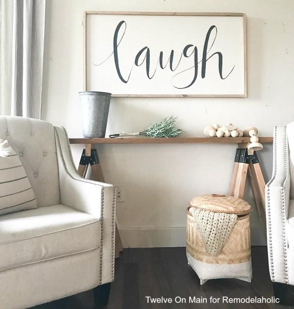 DIY Sawhorse Sofa Table20