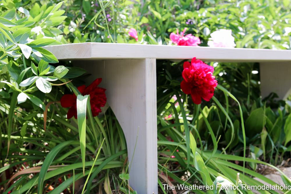 Easy Farmhouse Bench From Inexpensive Lumber Remodelaholic The Weathered Fox 5