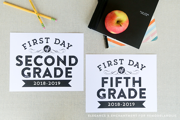 picture relating to Free Printable Back to School Signs named Remodelaholic Printable Initial Working day of University Symptoms (Up-to-date