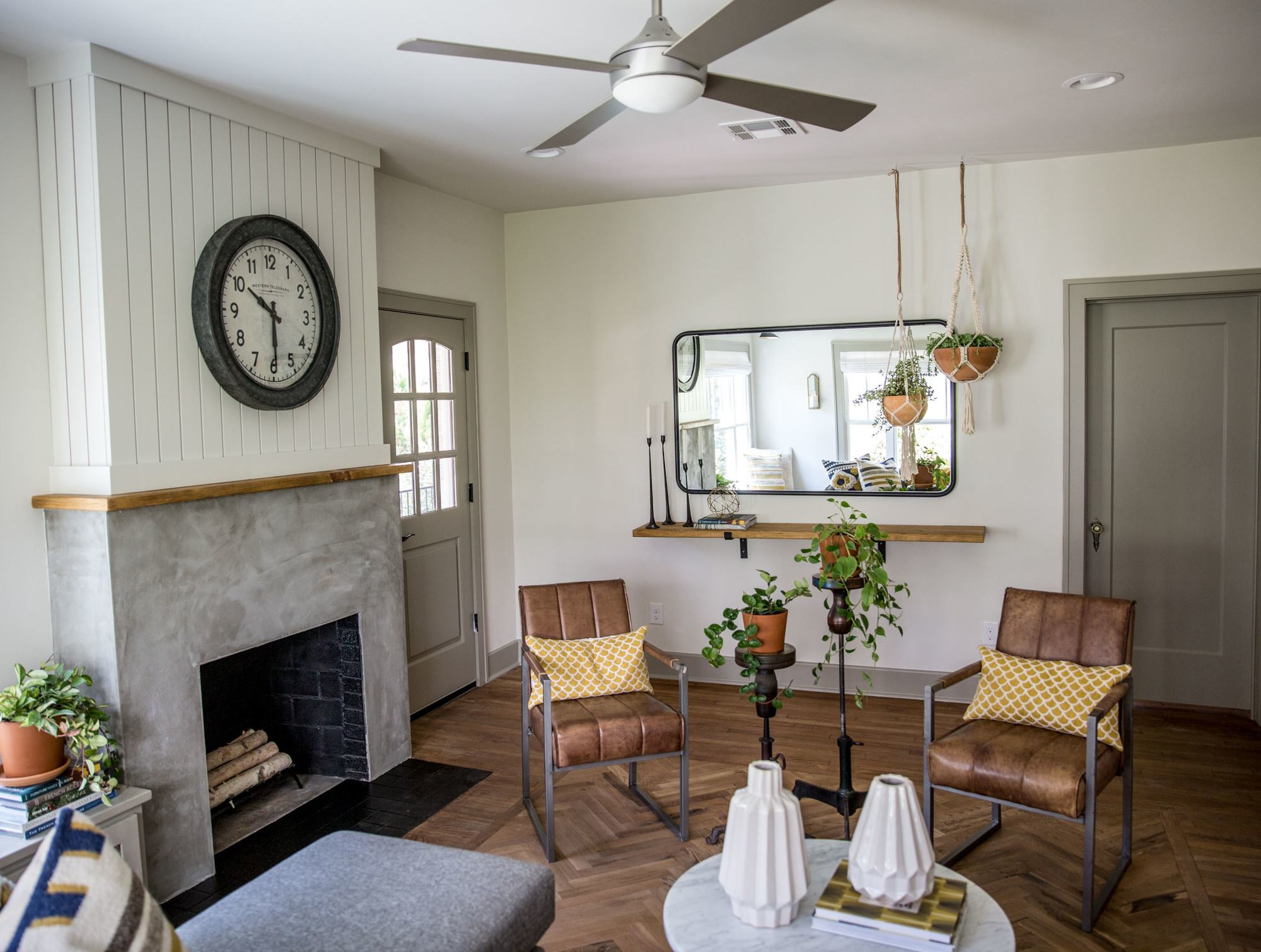 Fixer Upper Giraffe House Living Room Via Magnolia Market