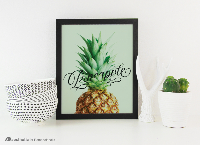 Free Printable Pineapple Art For Your Home Decor