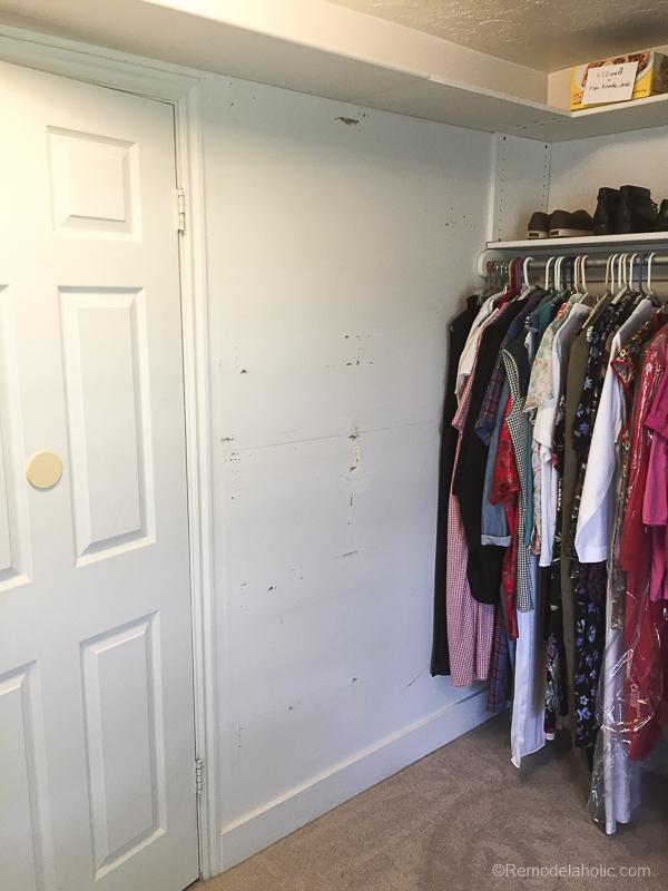 New Speed Queen Stacked Unit Installed Into Closet @Remodelaholic 43
