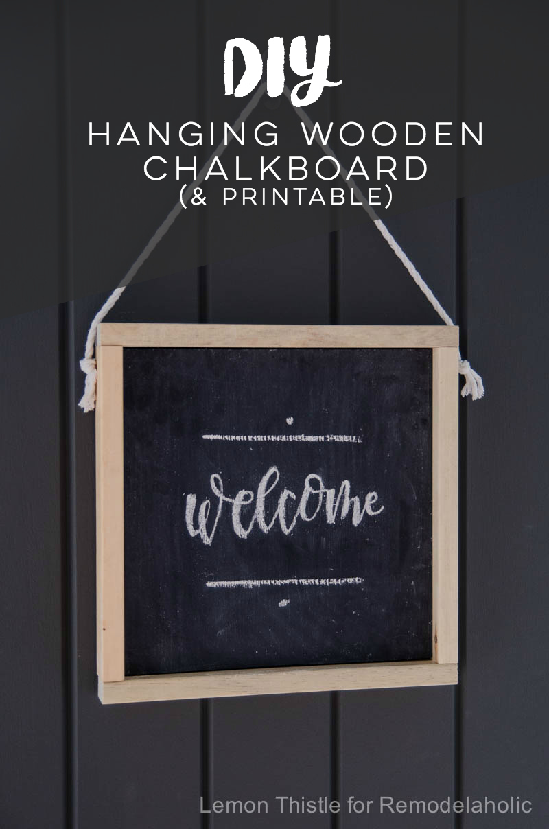 Remodelaholic how to make your own wooden chalkboard for Free chalkboard template