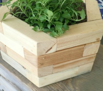 Feat 2x2 Projects, Hexagon Planters For Tabletop Or Wall, Mylove2create