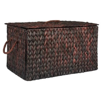 Gender Neutral Shared Kids Room Wicker Storage Trunk