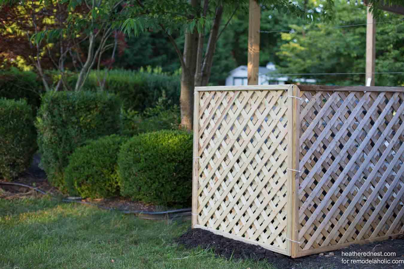 Remodelaholic Hide Your Ac Unit Diy Outdoor Air