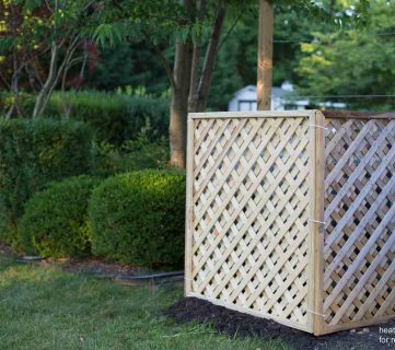 Hide Your AC Unit: DIY Outdoor Air Conditioner Screen with Lattice