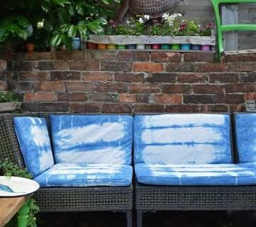Outdoor Ikea Sofa After Shibori Dyeing 7s