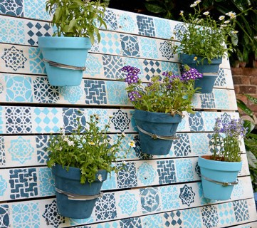 Pallet Wall Planter 6s