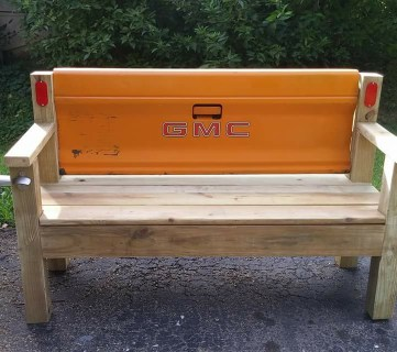 Patio Bench With Tailgate Michael Naugle @Remodelaholic