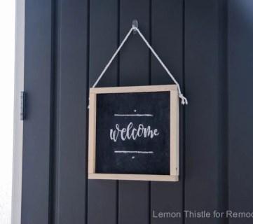 Welcome Chalkboard RM 1707101