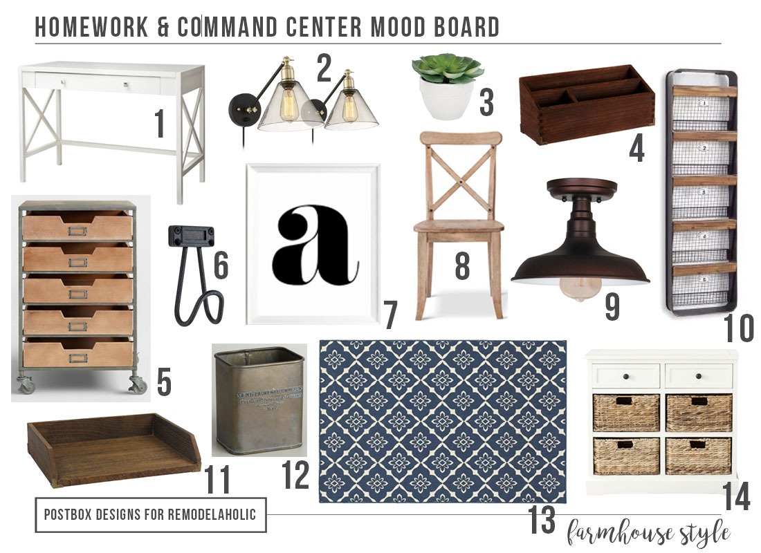 Create a Homework Station and Command Center by Postbox Designs