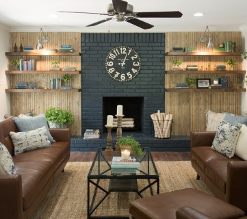 Fixer Upper Pocket Door House Living Room