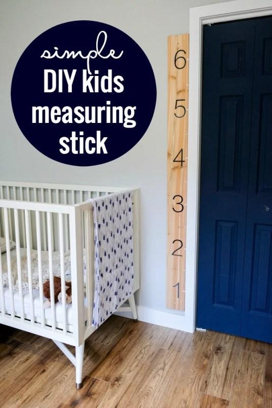 Super Easy Kids Measuring Ruler DIY Growth Chart