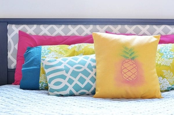 Pineapple Pillow Cover Tutorial