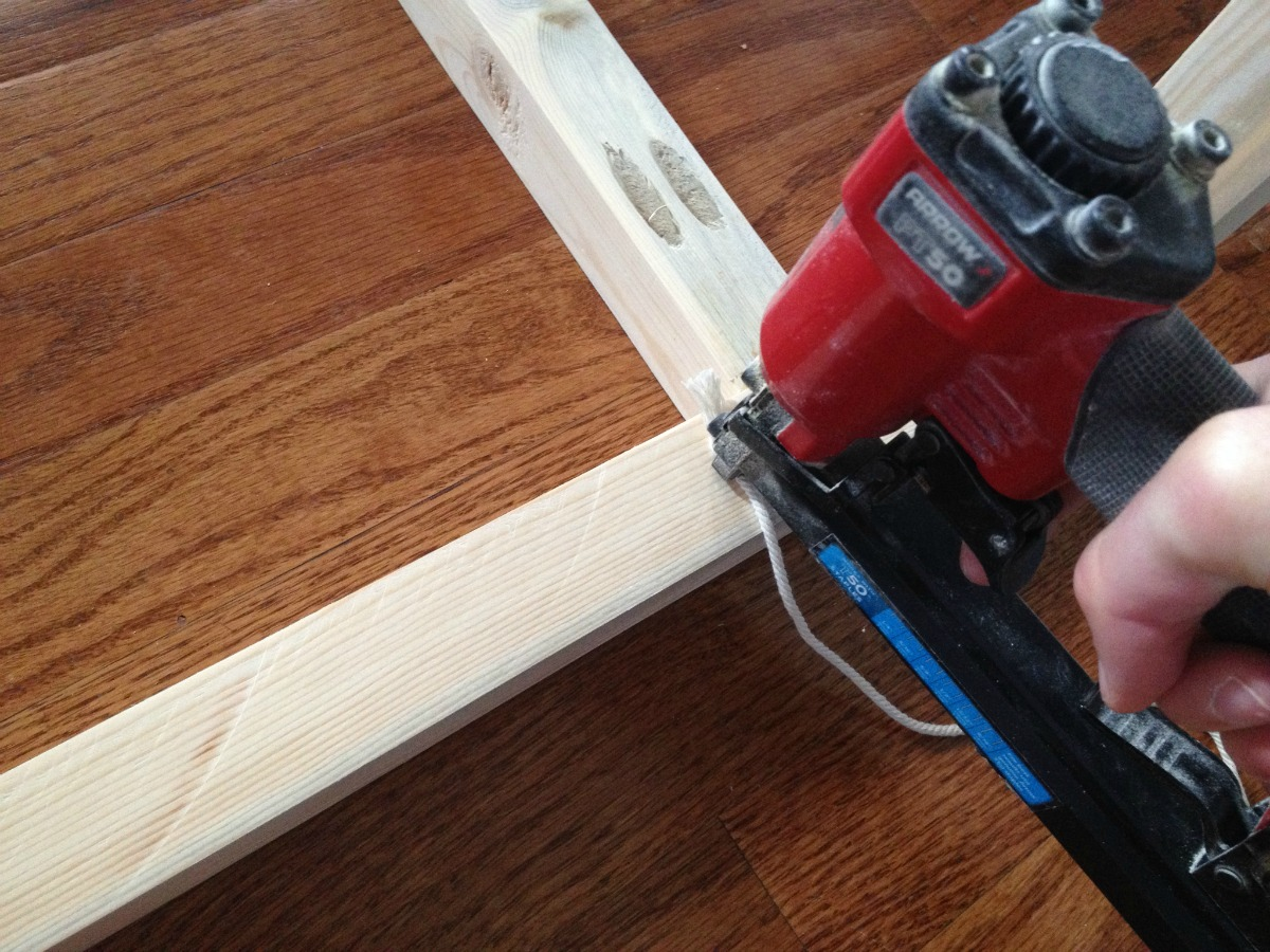 Woodshop Diaries Woven Bench Staple On String