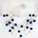Blue Boys Playroom 11 Navy And Gold Ball Garland