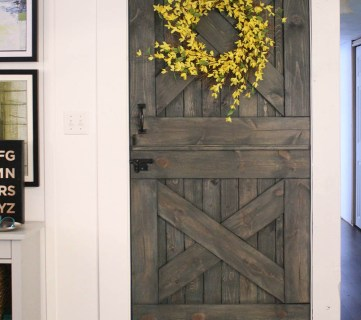 Color Washing Paint Technique Finished Dutch Barn Door Split Door Baby Gate @Remodelaholic