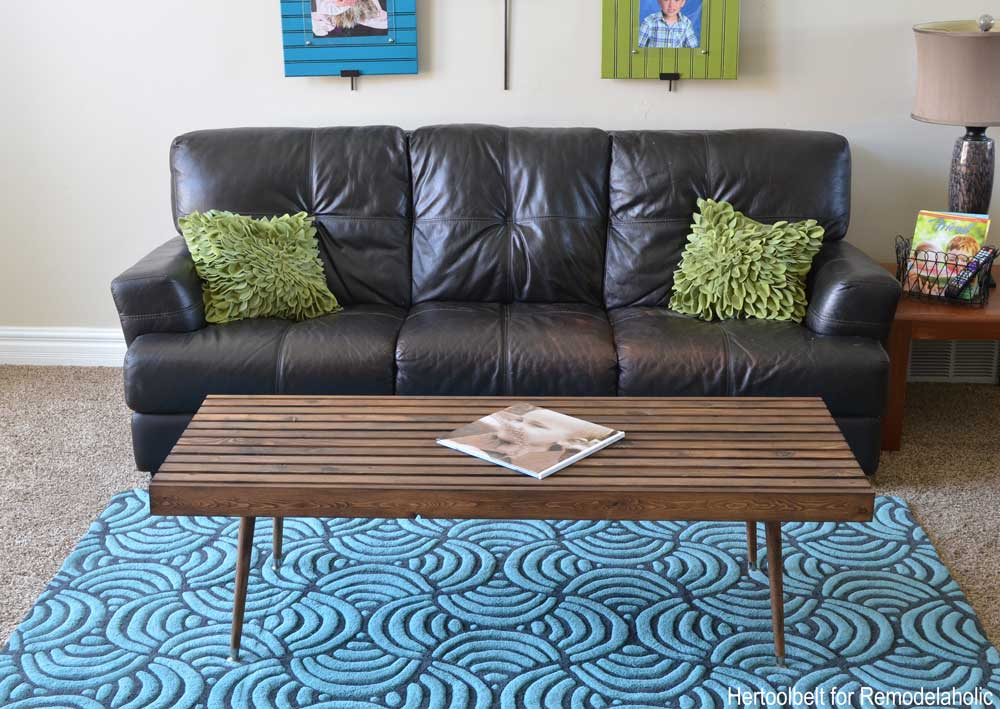 remodelaholic diy modern slat coffee table building plan