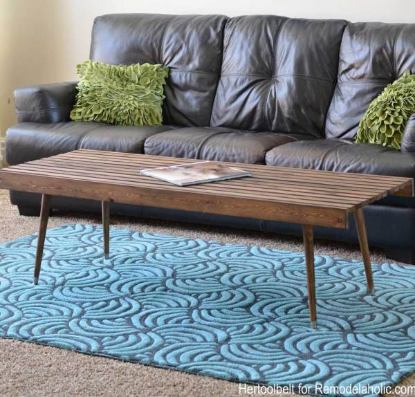 Diy Modern Slat Coffee Table Sq