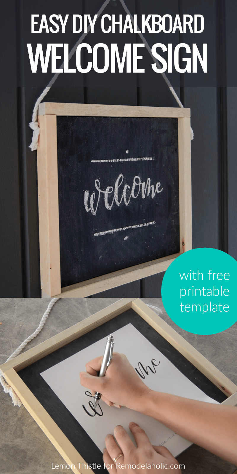 Remodelaholic How To Make Your Own Wooden Chalkboard