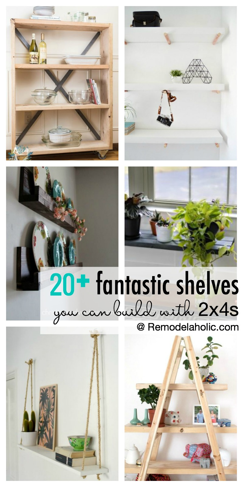 foto de Remodelaholic | 20+ Fantastic DIY 2x4 Shelving Ideas