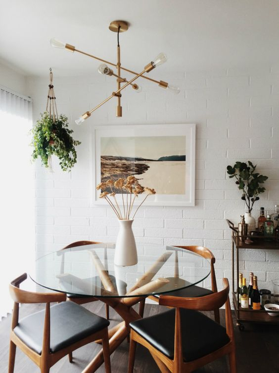 Neutral Mid Century Modern Dining Room Decorating Tips And Ideas