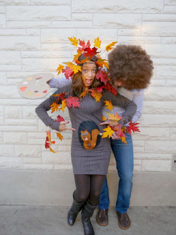 Bob Ross And Happy Tree Halloween Costume CRAFT