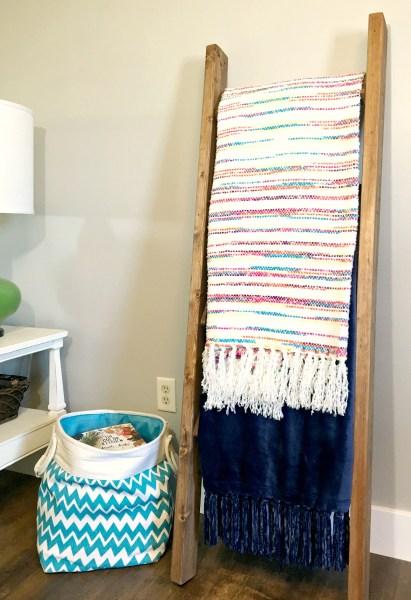 DIY Blanket Ladder From 2x4s