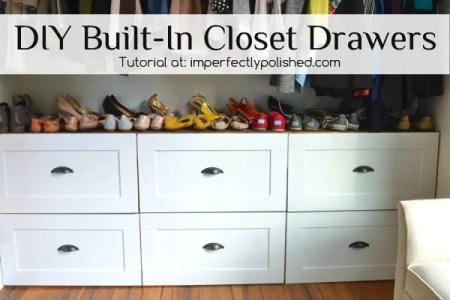 DIY Built In Closet Drawers Tutorial
