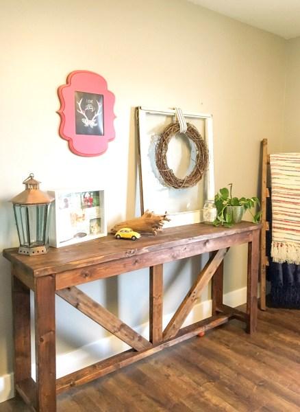 DIY Farmhouse Console Table