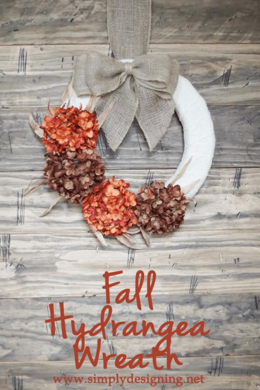 Fall Hydrangea Wreath Vertical