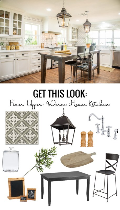 Fixer Upper Worm House Kitchen