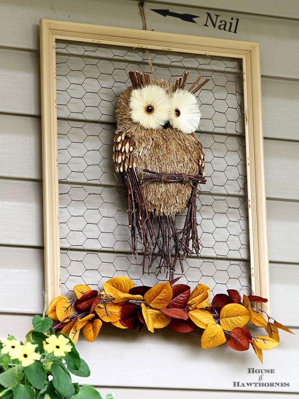 Framed Fall Owl House Of Hawthornes