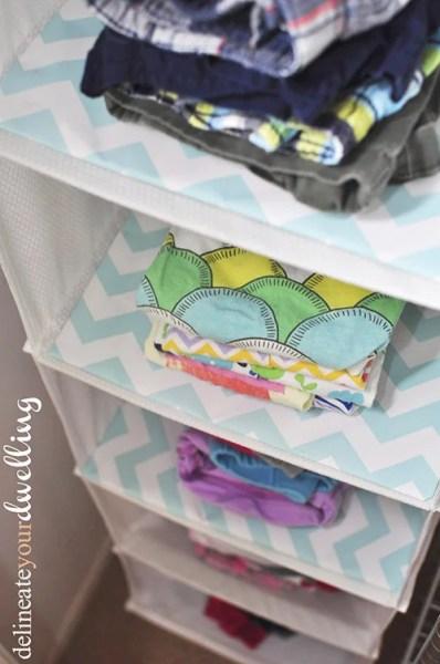 Kids Shared Closet Organized Clothes